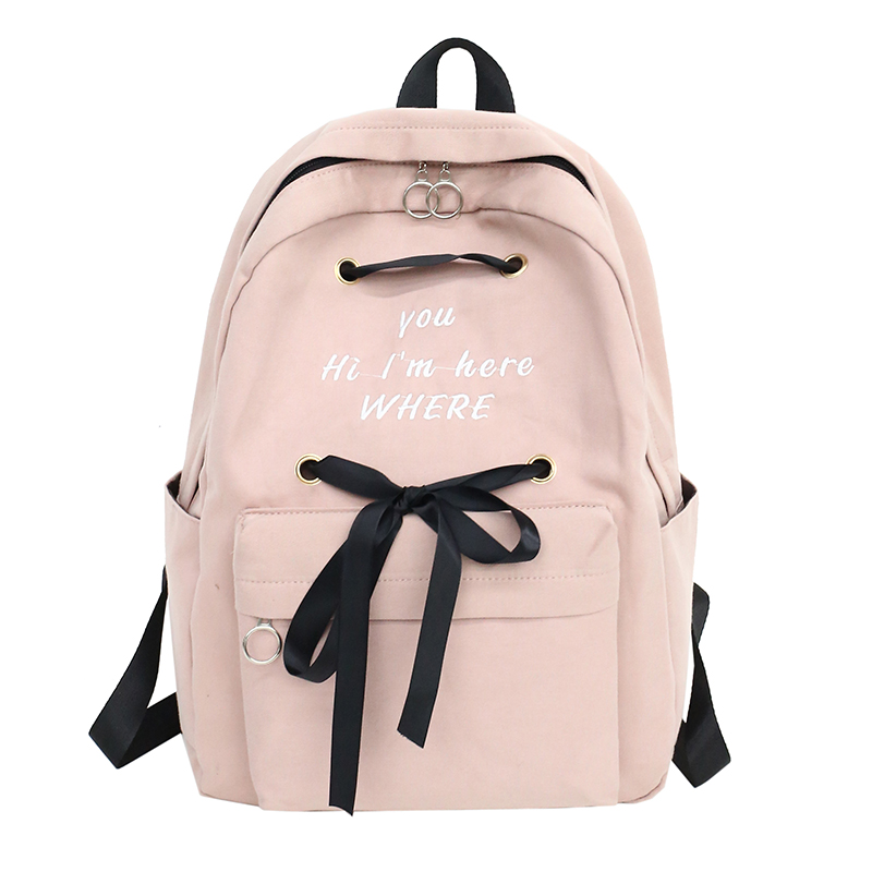 Brand New Letter Print Women Backpacks Canvas Backpack Girls Rucksack School Backpacks For College Student Mochila Feminina