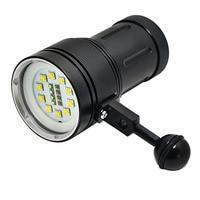 Buceo luz submarina 100 M 10X XML2 + 4 roja + 4 xblue LED video fotografía buceo linterna lámpara