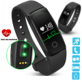 PK ID107 Heart Rate Smart Bracelet Watch Heart Rate Monitor Pedometer Smart Band Wireless Fitness Tracker Wristband