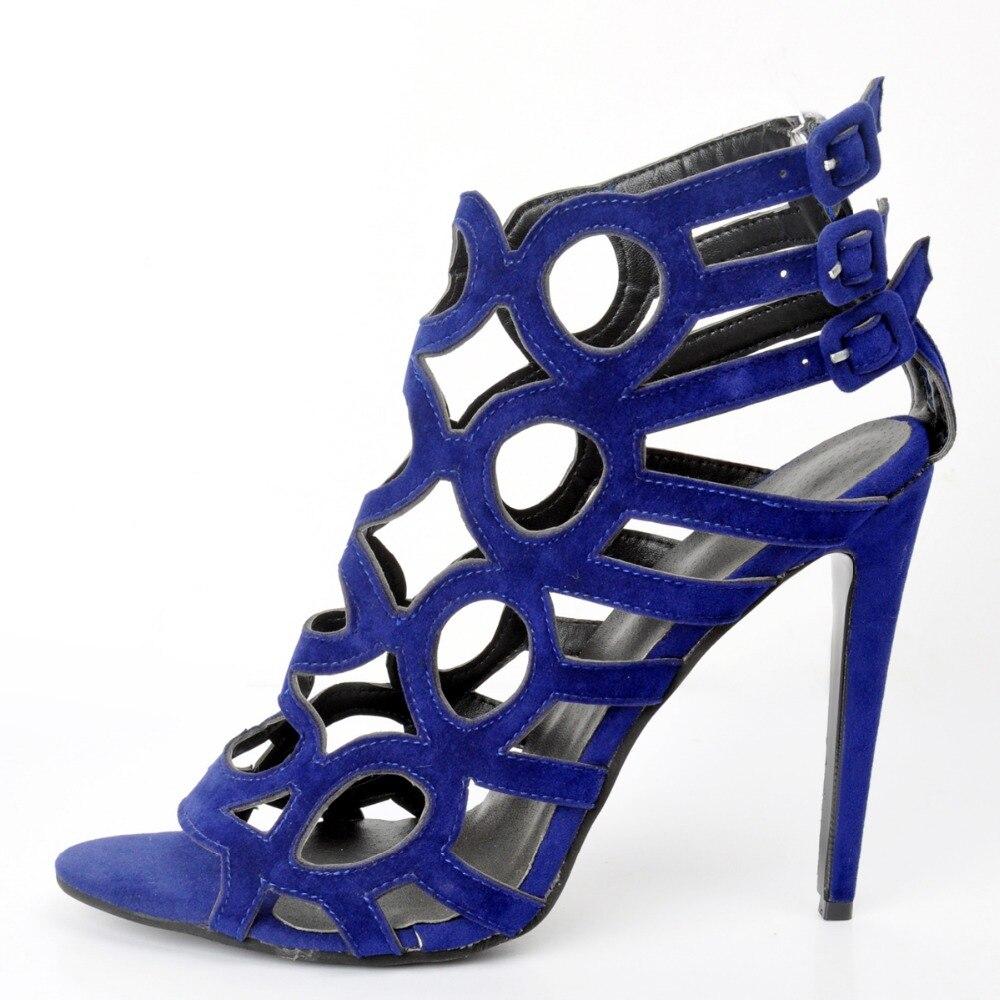 L'intention Taille Sandales De Xd210 Bout Haute Minces Ouvert Talons Femmes Découpes 15 Plus Us Chaussures La 4 Initiale Bleu Sexy Qualité Femme wrTwAq