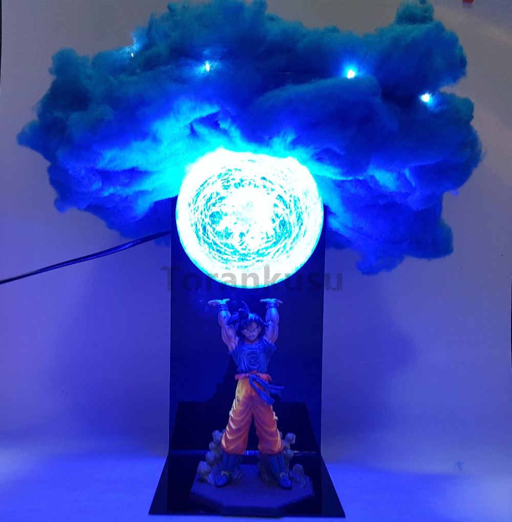 Dragon Ball Z Son Goku Action Figures Genki damaSpirit Bomb Toys Anime Dragon Ball Super Led Lights Model Toy Esferas Del Dragon