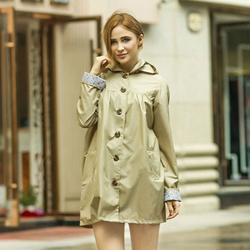 Compare Prices on Hooded Trench Coat Women Rain- Online Shopping