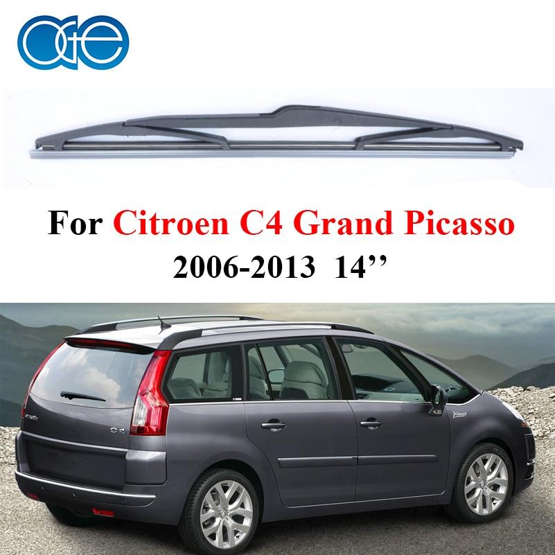 Rear Wiper Blades for Citroen C4 Grand Picasso 2006-2013, Silicone Rubber Windscreen Wipers No Arm Car Window Accessories C2-35