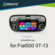 IOKONE Car DVD GPS For Fiat 500 2007-2013 with Black White Touch Screen Radio Stereo Multimedia bluetooth Steering wheel CANBUS