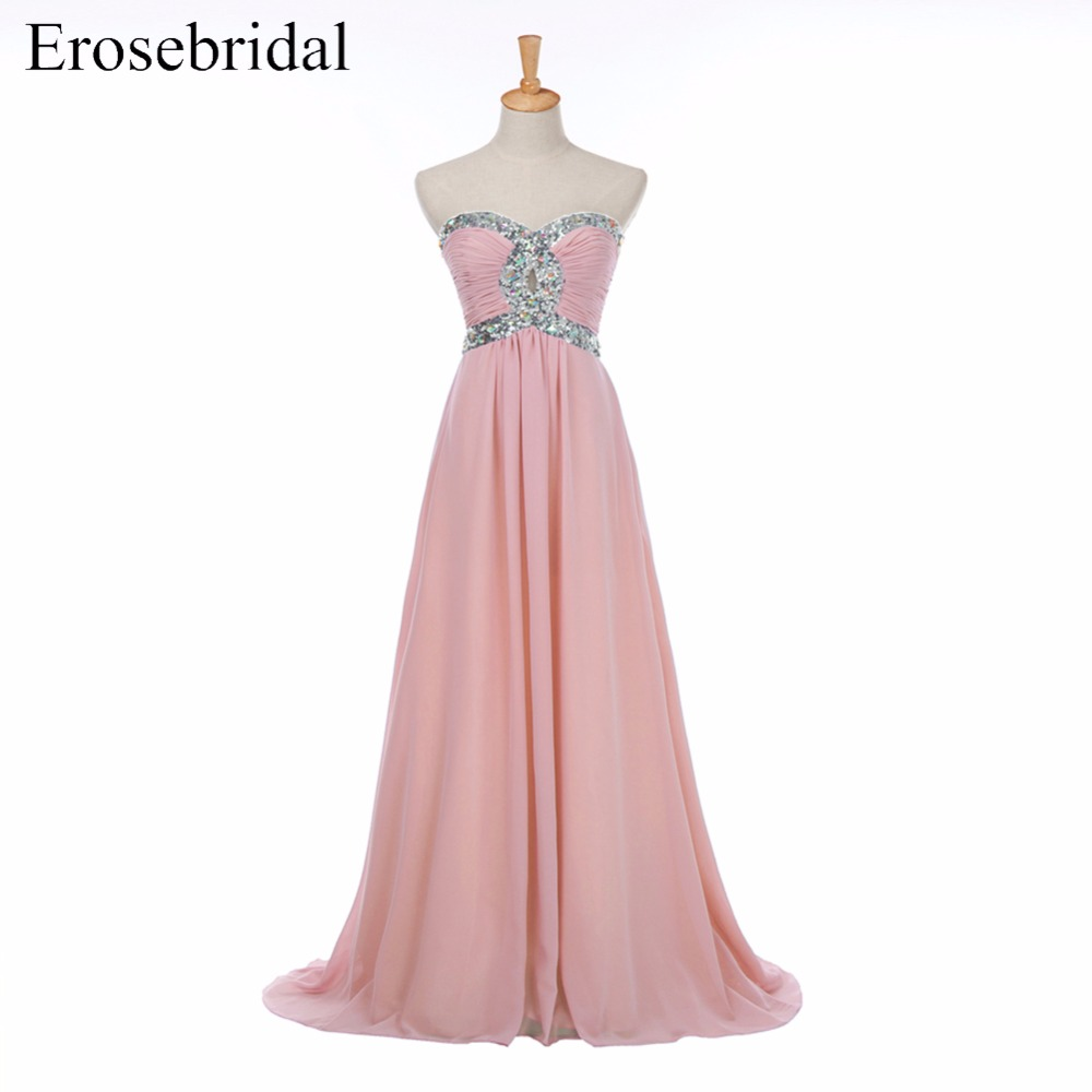 A Line Sweetheart Lace up Back Evening Dress with Beading and Sequined Muti color Sweep Train
