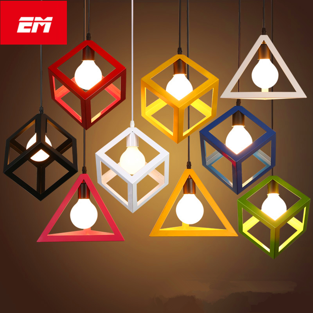 Retro indoor lighting Vintage pendant light LED colorful style light fixture Home Lighting kitchen pendant lamp E27 vintage retro new pendant light lamp bar shop lighting led lighting ceiling lamp fixture e27 90 260v three colors free shipping