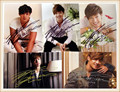 SS501 Kim Hyun Joong autographed  signed with pen picture  5 photos set  6 inches new korean   freeshipping  03.2016 B