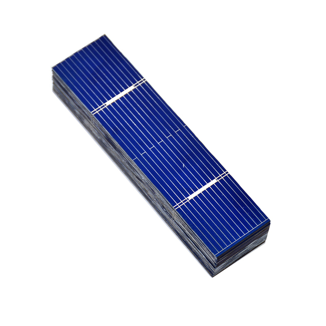 Aoshike 50pcs  Solar Panel 0.25W 0.5V 0.5A 76*19mm Polycrystalline Silicon Solar Panel Solar Cell DIY Charger Battery