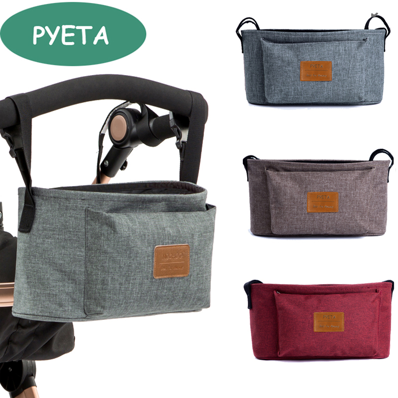 Pyeta Baby Stroller Accessoris Bag New Cup Bag Stroller Organizer Baby Carriage Pram Buggy Cart Bottle Bag Car Bag Yoya