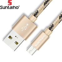 Suntaiho Nylon Micro USB Cable Mobile Phone Cable 0.5m/1m/2m/3m  Fast Charging USB Data Cables for Samsung/Xiaomi/Huawei/LG