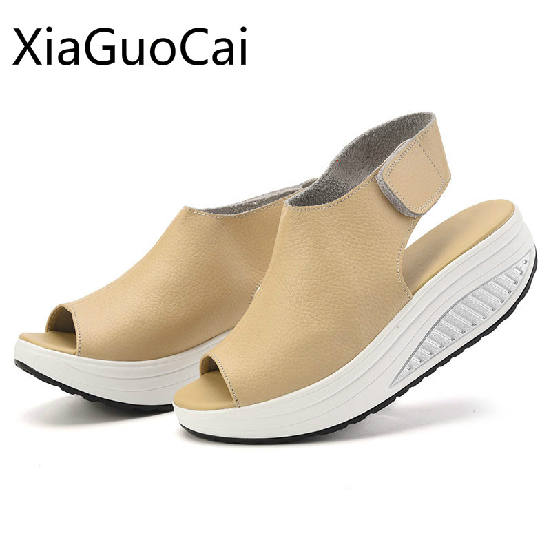 Summer Woman Sandals Soft Bottom Women Platform Sandals Female Peep Toe Wedges Sandals Ladies Plus Size Creepers han edition diamond thick bottom female sandals 2017 new summer peep toe fashion sandals prevent slippery outside wear female