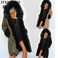 STAINLIZARD Warm Long Parkas Women Winter Coats Casual Thick Cotton Ladies Clothing Outwear Female Women Jacket