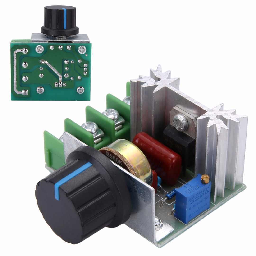 Mayitr elektryczny Regulator napięcia 50-220V AC 2000W silnik o wysokim momencie obrotowym ściemniacze sterownik SCR pokrętło przełącznika kontrola prędkości narzędzie