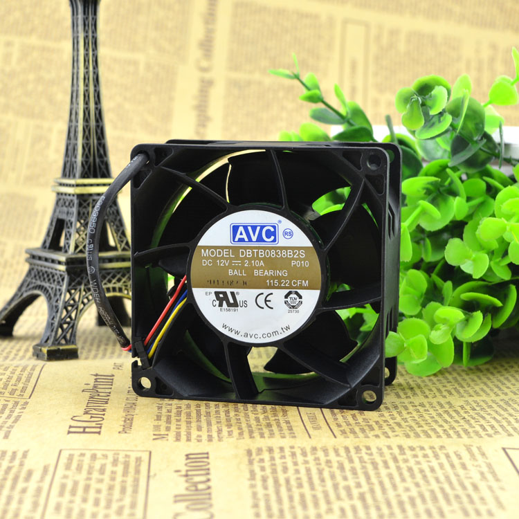 AVC 8038 DBTB0838B2S 12V 2.1A Violent Fan,DC Axial Fan,Cooling Fan Can be used for the graphics card power supply chassis
