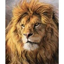 5d diy diamante bordado quadrado completo diamante mosaico cabeça de leão diamante pintado cruz strass
