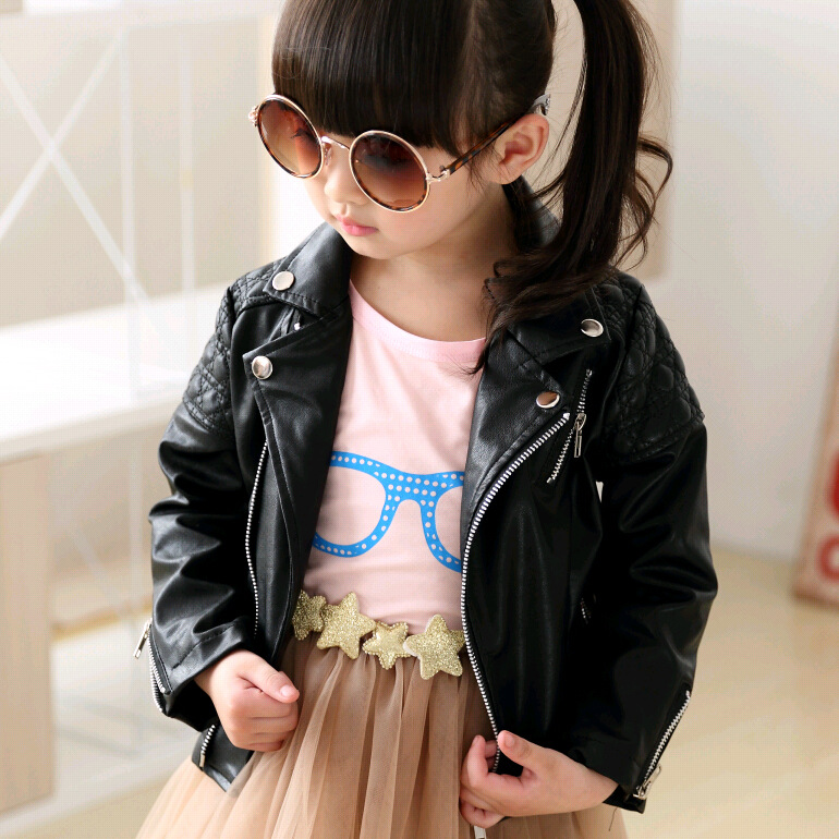 97a7c7ebb Little Boy and Girls Faux Leather biker Jacket