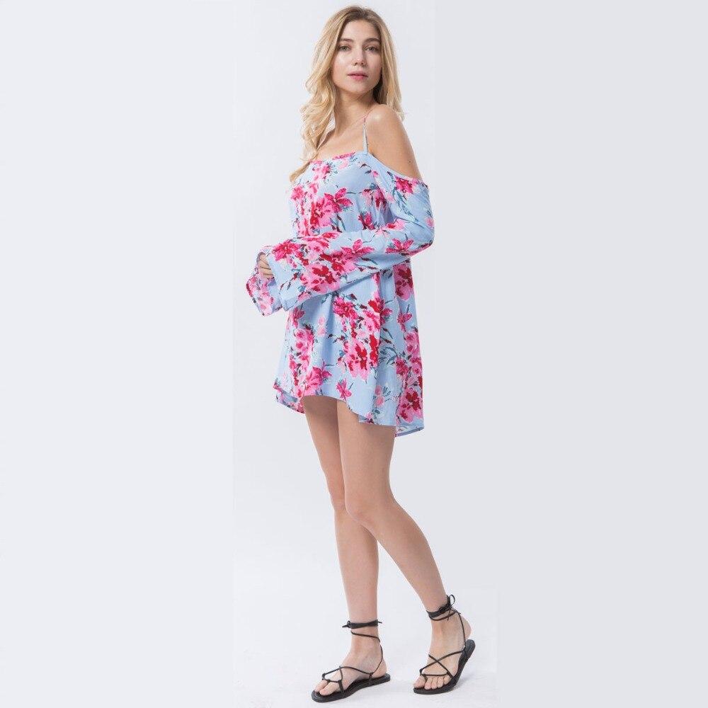 Dioufond Schulterfreies Blusenhemd Beach Summer Floral Blusen Strap - Damenbekleidung - Foto 4