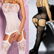 Women's Sexy Lingerie Fishnet Open Crotch Body Stocking Bodysuit Nightwear Sex Toys Erotic Lingerie Sexy Costumes