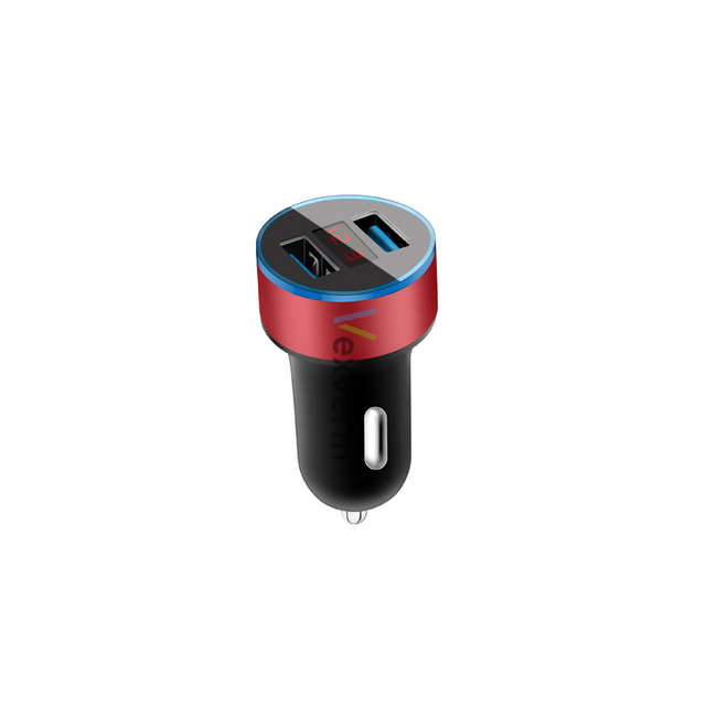 3.1a dupla usb carregador de carro 2 portas display lcd 12-24 v cigarro soquete isqueiro carregador de carro para iphone samsung xiaomi huawei etc