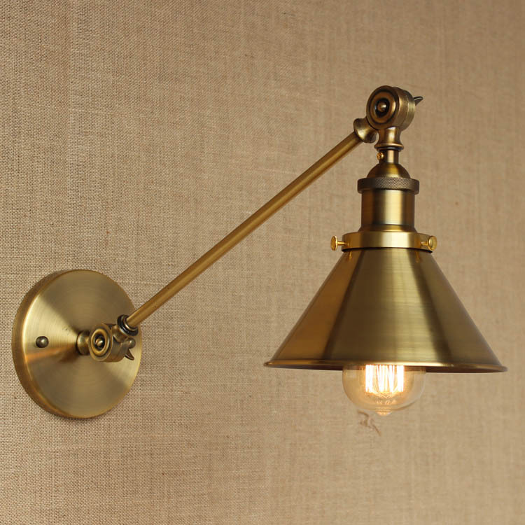RH style and popular creative shopping malls chain store Cafe Cafe bronze iron wall lamp holder