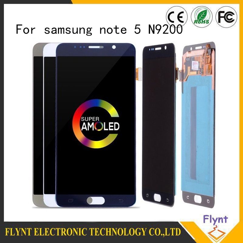 Super AMOLED Original 5 7 Screen For SAMSUNG GALAXY Note 5 LCD Display Touch Screen Assembly