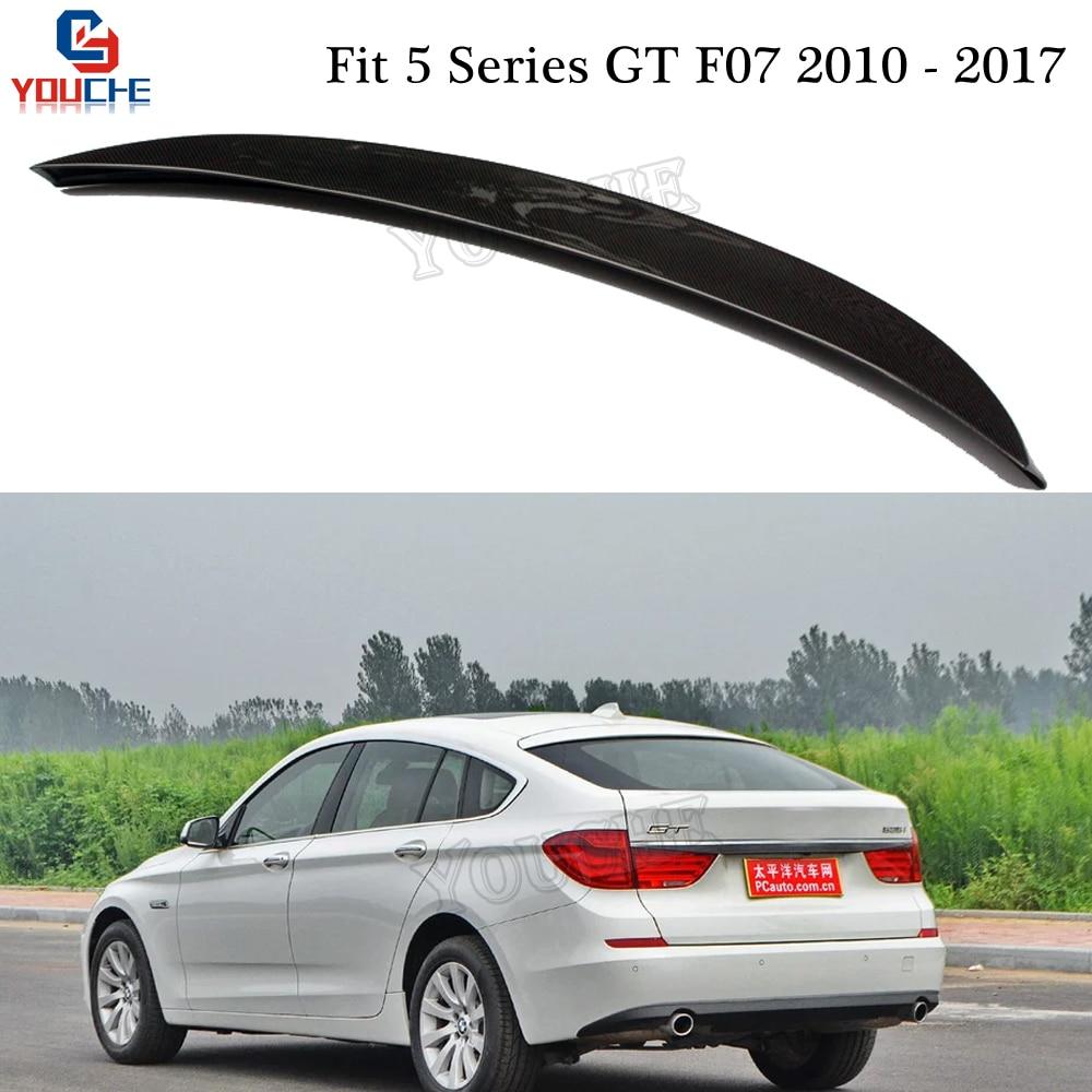 AC Style Carbon Fiber Rear Spoiler for BMW 5 Series GT F07 2010 2017 5 door