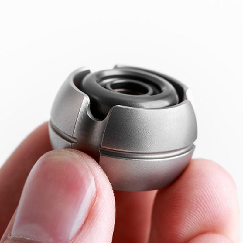 EDC Niko Atomic Noise Fingertip Gyro Mini aleación de titanio cuchillo colgante adulto descompresión juguete