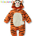 0-18Months/Spring Autumn Baby Girl Boys Rompers Cartoon Cute Tiger Hooded Jumpsuit Newborn Clothing Unisex Infant Clothes BC1096