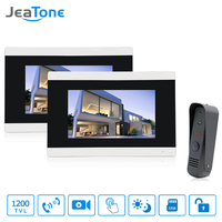 Jeatone 7 Touch Screen Video Door Phone Doorbell Intercom IR Camera LCD Monitor Unlocking Electronic Lock