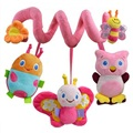 Happy Monkey Newborn Infant Soft Plush Toys Baby Crib Hanging Toys Stroller Playing Toy Car Lathe Music Hanging Rattles KF985