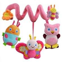 Newborn Infant Soft Plush Toys Baby Crib Hanging Toys Stroller Playing Toy Car Lathe Music Hanging Rattles KF985