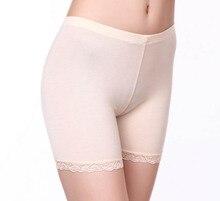 лучшая цена Summer Thin Women Safety Lace Pants lady High Elastic Shorts big size M-3XL seamless modal boyshorts dress safety Under Shorts