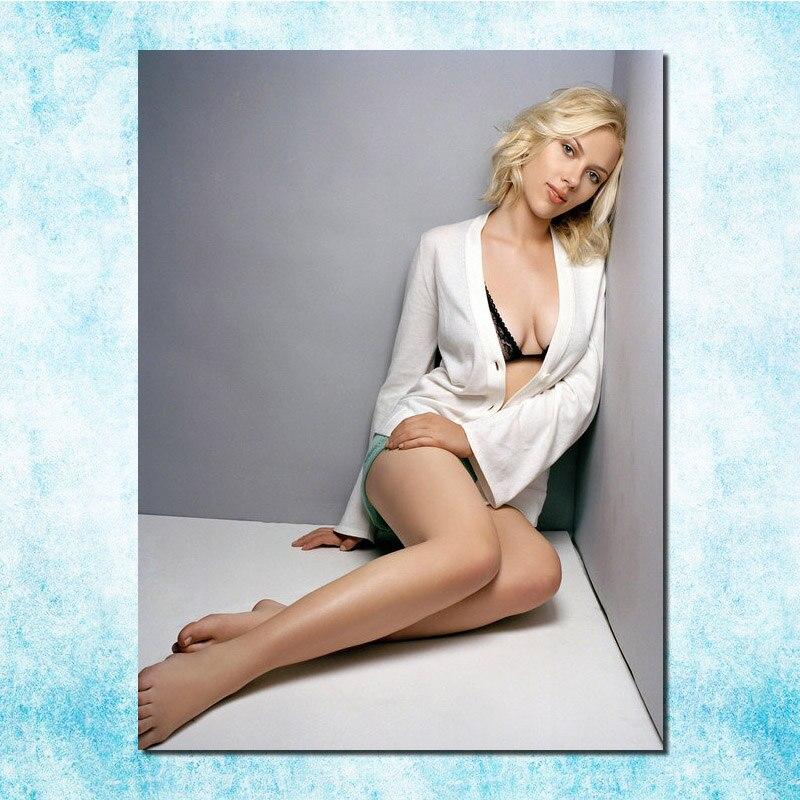 Scarlett Johansson Sexy Hot Movie Star Art Silk Canvas -3429