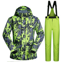 Men Ski Suit Brands Windproof Waterproof Warmth Clothing Ski Jacket and Pants Men Snow Set Winter Skiing and Snowboarding Suits cheap MUTUSNOW COTTON Polyester Microfiber spandex Hooded Fits true to size take your normal size HongLvDiTu Jackets Anti-Pilling