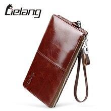 LIELANG Nagelneuen männer Lange Brieftasche Aus Echtem Leder Geldbörse Tasche Männer Brieftaschen Kartenhalter Mode Super Dünne Kuh Männlichen brieftaschen