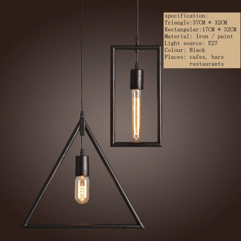 Vintage Pendant Lights Industrial Retro LOFT Lamp Avize Nordic Pendant Lamp E27 Holder Iron Restaurant Bar Counter Attic Lamp