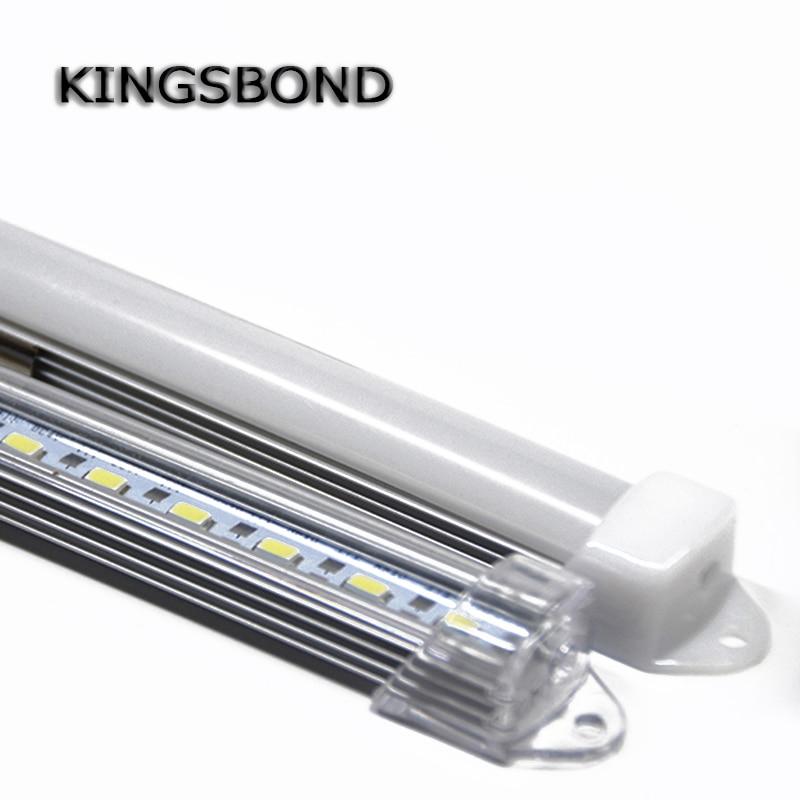 5pcs*50cm Factory Wholesale 50CM DC 12V 36leds SMD5630 LED Hard Rigid LED Strip Bar Light with U Aluminium shell and pc cover