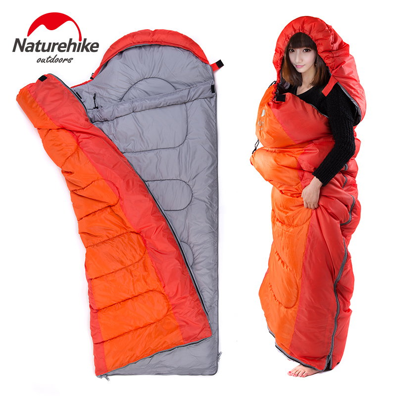 Naturehike Ultralight Sleeping bag Outdoor Camping Travel Hiking Adult Sleeping Bag Can Be Spliced Tourist Tquipment NH15S009-D nh outdoor camping indoor lunch adult sleeping bags of ultra light warm seasons can be spliced herringbone cotton bag