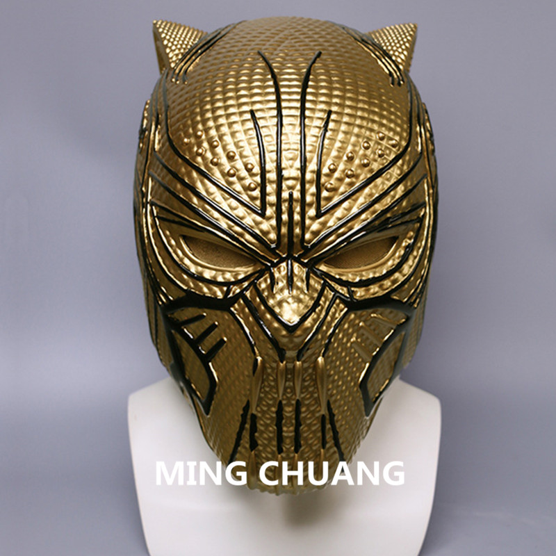 Helmet Rameet Chawla Mask Props Toe Pvc Action Figure Toy Box J607 Selected Material life Size Avengers Infinity War Black Panther Cosplay 1:1