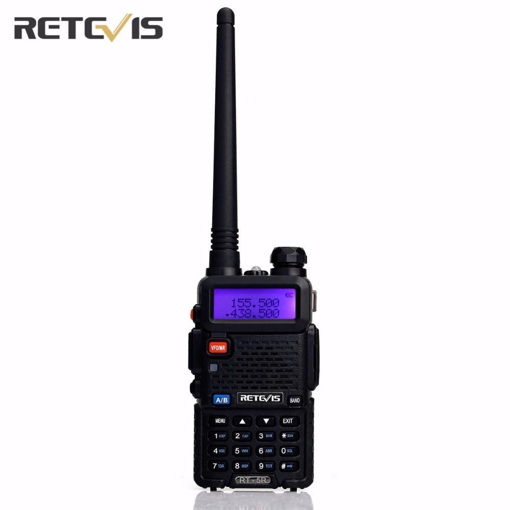Hot Sale Retevis RT 5R Walkie Talkie 5W Dual Band VHF/UHF Ham Two Way Radio CTCSS/DCS Portable Amateur Radio Transceiver RU