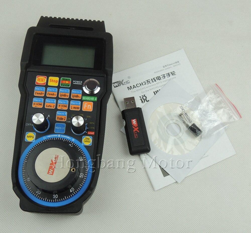 Máquina de gravura controle remoto volante mach3 mpg usb sem fio roda de mão para cnc 3 eixos 4 eixo controlador fresadora - 5