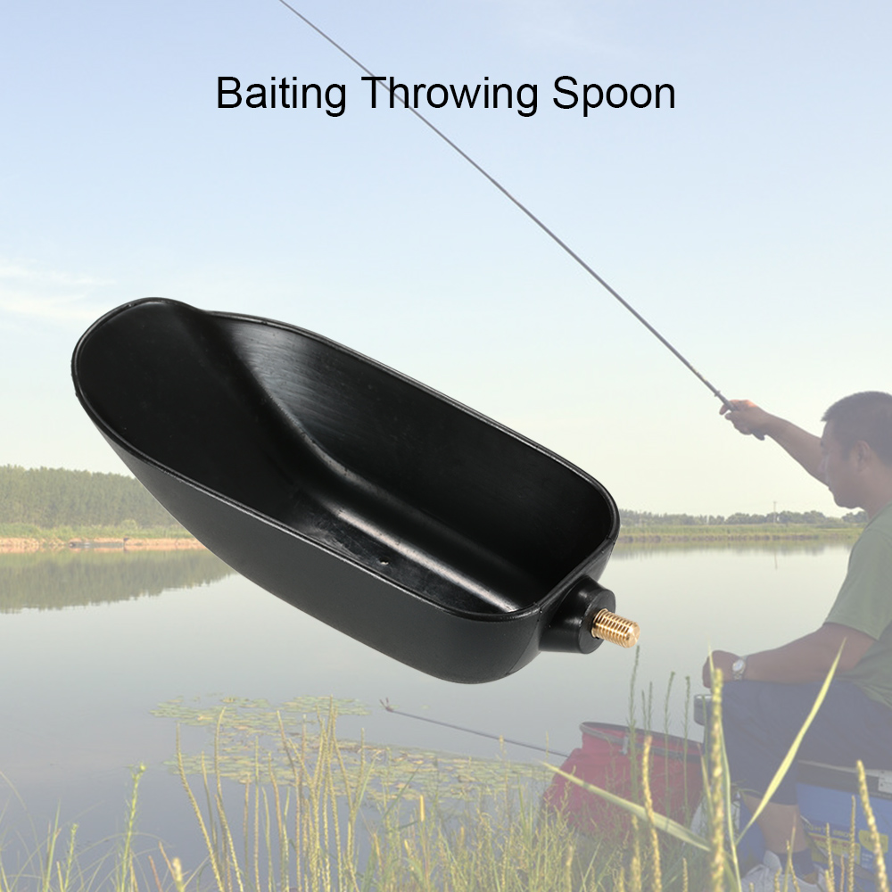 Baiting Throwing Spoon Feeder Bait Casting Scoop Carp Coarse Fishing Tackle