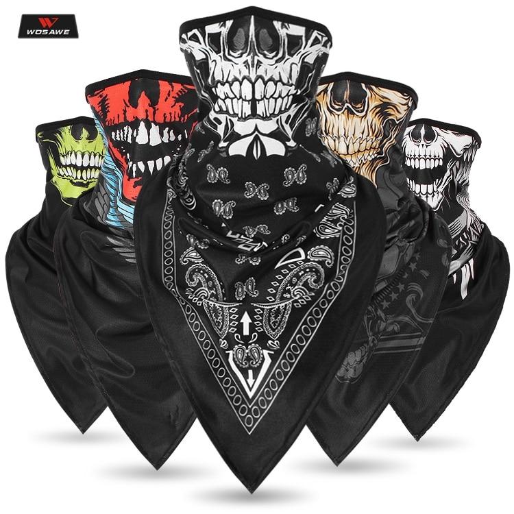 3D Balaclava Motorcycle Face Mask Motocross Neck Wear Tactical Skiing Motorbike Scarf Bandana Motor Head Shield Inner Helmet