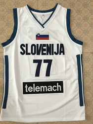 #77 Luka Doncic slovenija men's stitched embroidery BASKETBALL JERSEY Embroidery Stitches Customize any size and name