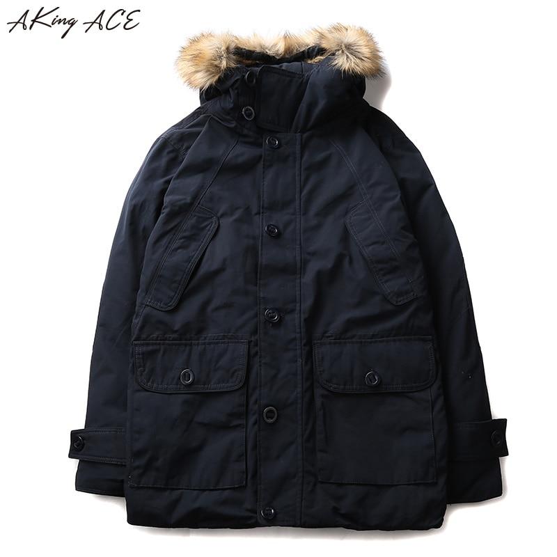 AKing ACE 2017 Winter Mens Cargo Jacket Hooded Parka Big ...