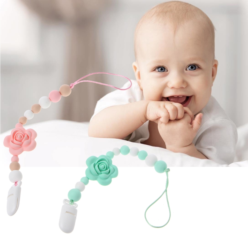 Infant Baby Holder  Teether Soother Baby Silicone Nipple Pacifiers For Baby