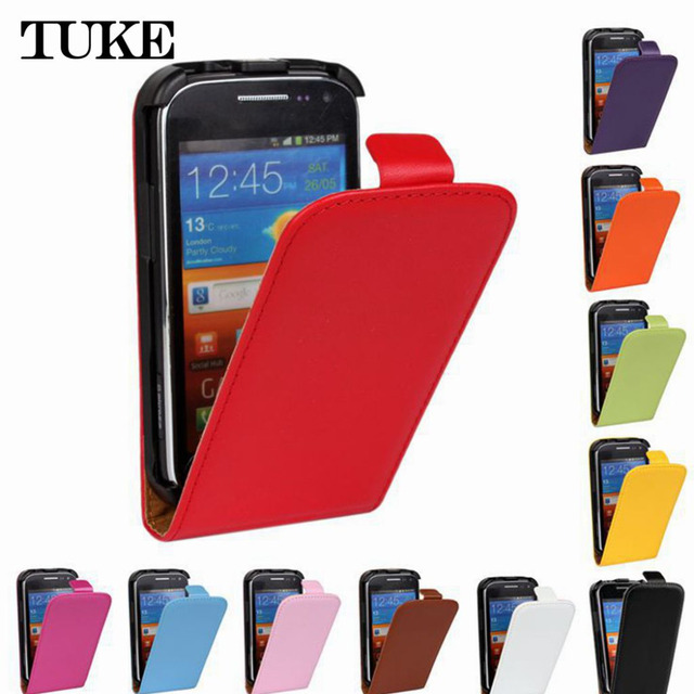 TUKE High Quality Genuine Flip Leather Case For Samsung Galaxy Ace 2 i8160 GT-i8160 Phone Cases Cover SJ0668