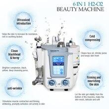 Гидро прибор для лица 6 в 1 аппарат для гидрадермабразии очищающее средство для лица многофункциональный СПА-прибор для лица кожи ухаживающее косметологическое оборудование
