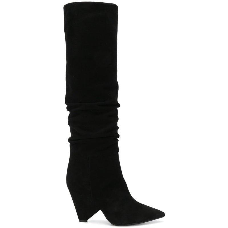 Las Moda Sapato Femenino Señaló Botas De Pic As Largas Pista Mujer Nuevo Mujeres Negro Marca Zapatos Marea n4qIvzt
