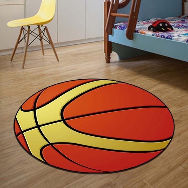 Neue Ankunft Basketball Runde Teppich Durchmesser 60 80 100 120 160